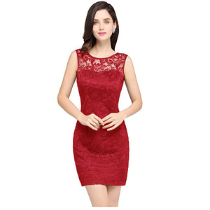Women Sleeveless Cocktail Dress